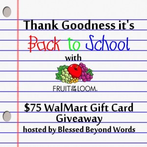 #Sponsored: #TGIBTS with @FruitoftheLoom #Walmart #Giveaway