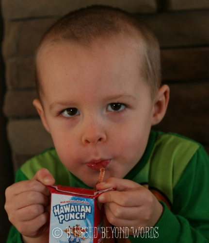 teach your child the right way to hold a juice box