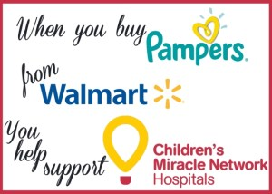 #Sponsored: #Giveaway @Walmart and @Pampers Team Up to Support Children's Miracle Network Hospitals