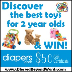 #Spon: Can Toys for 2 Year Olds Increase Learning? And a Diapers.com #Giveaway!