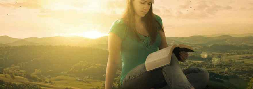 God places dreams in our hearts that are uniquely suited to us. We do not have to fear them. Dream big and work every day to make those dreams a reality. Image of a giant woman sitting by a town reading her Bible.