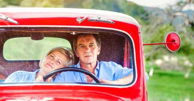 Do you and your spouse yearn to grow closer as a couple, yet think you'll never be close again? You can grow closer. It is possible and worth the effort! Spend time together doing things you loved doing together in the past. Image of a couple sitting in a truck together. The woman has her head on the man's shoulder.