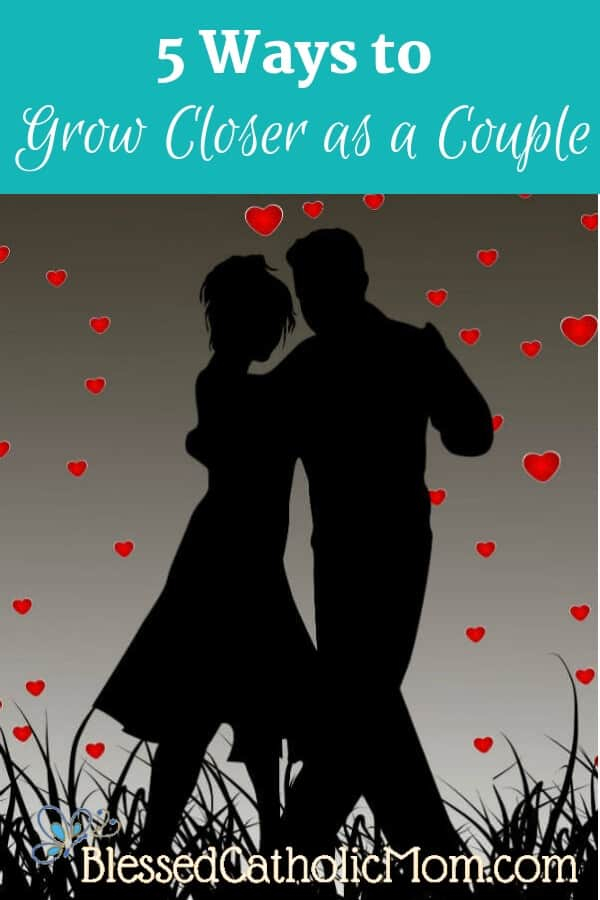 Do you and your spouse yearn to grow closer as a couple, yet think you'll never be close again? You can grow closer. It is possible and worth the effort! Image of silhouette of a couple dancing.