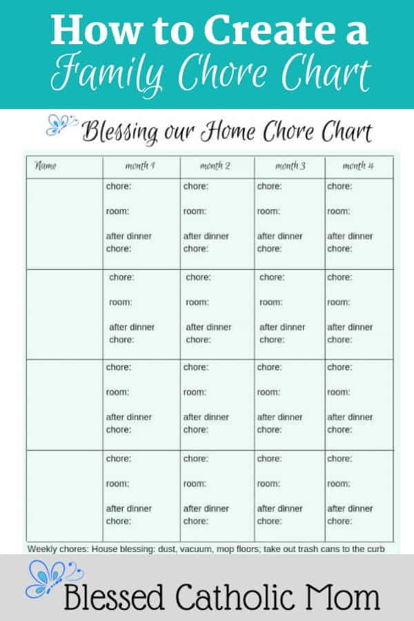 Do you know how to create a chore chart? The best chore chart for your family is the one you use! Follow these simple steps to create one for your family. Image of a chore chart.