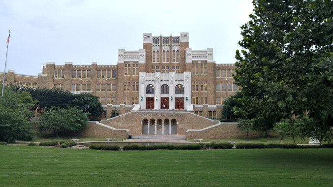 front of central high school little rock pic 1