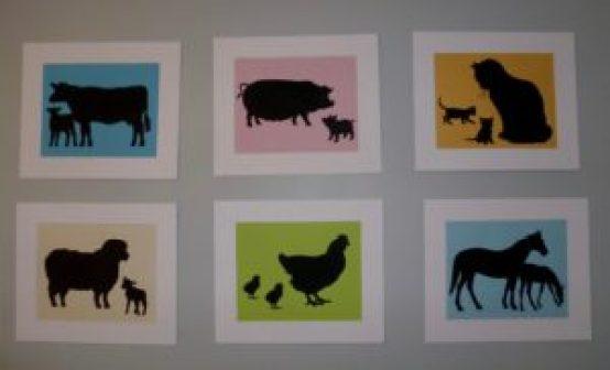 farm animal nursery silhouettes