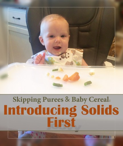 Skipping Purees & Baby Cereal: Introducing Solids First. A method of baby led weaning.