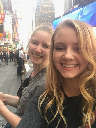 Me and my friend Savanna in Time Square.