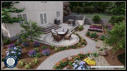 Back yard patio #1 in 3D