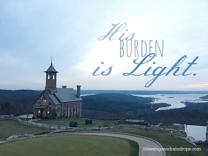 his burden is light