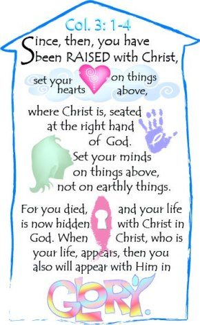 Bulletin Cover Colossians 3:1-4