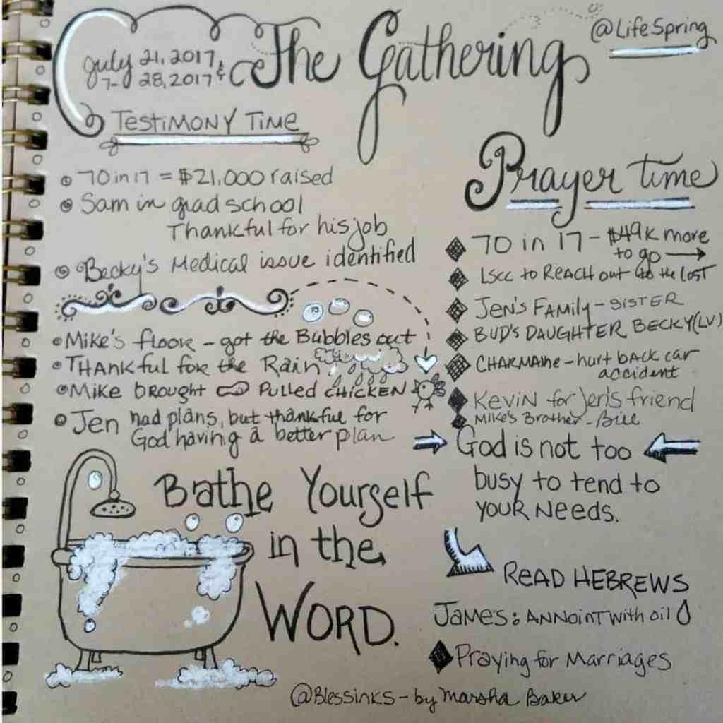 #sermonsketchnotecommunity The Gathering Prayer Service.