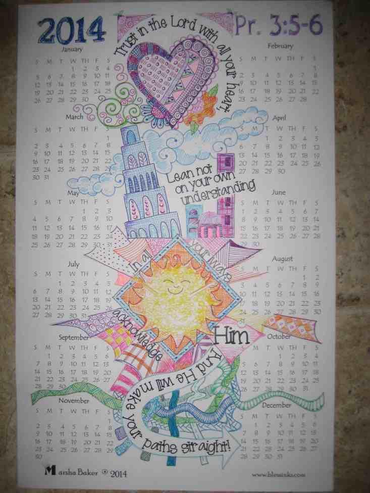 Doodle Devo 2014 Calendar Pv 3:5-6