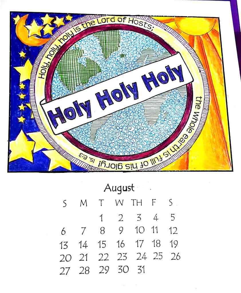 August Calendar –