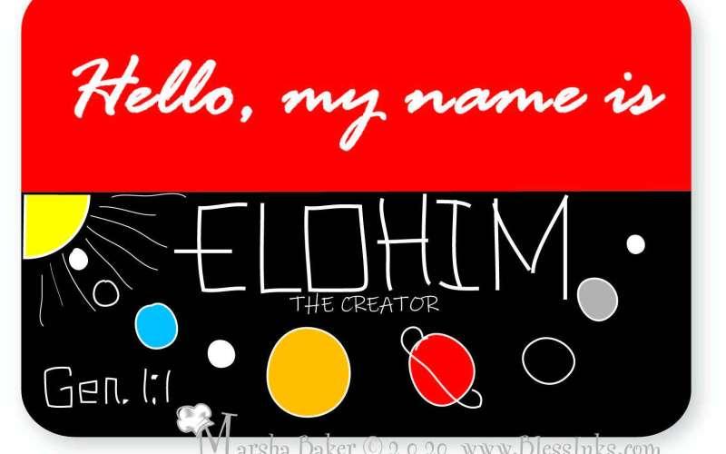 Names of God Sketchnoted Bible Study – Elohim