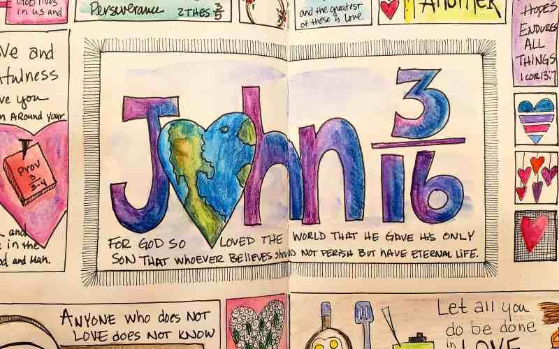 God is Love  – Sketchnote Journal Challenge