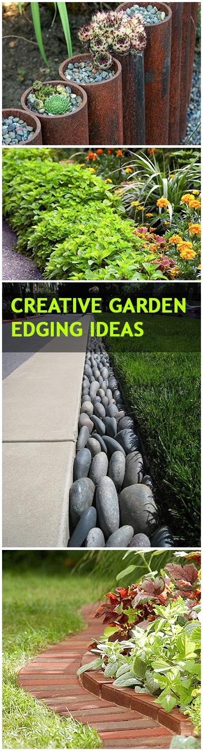 creative lawn and garden edging ideas