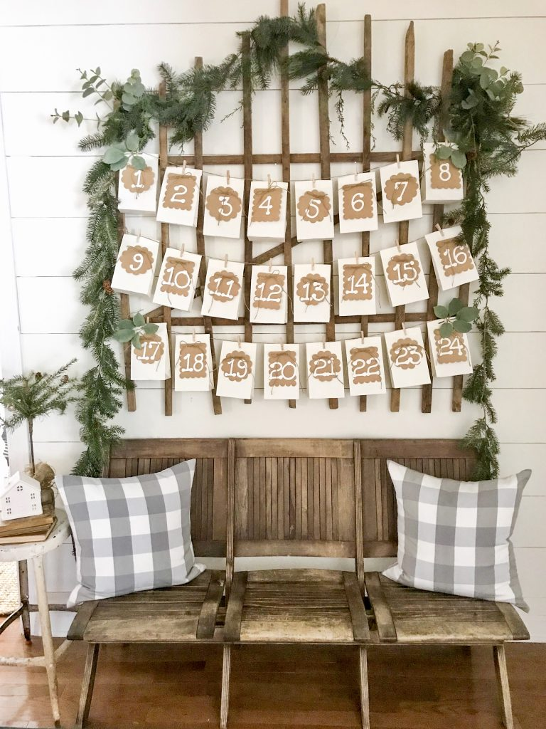 image of paper bag advent calendar
