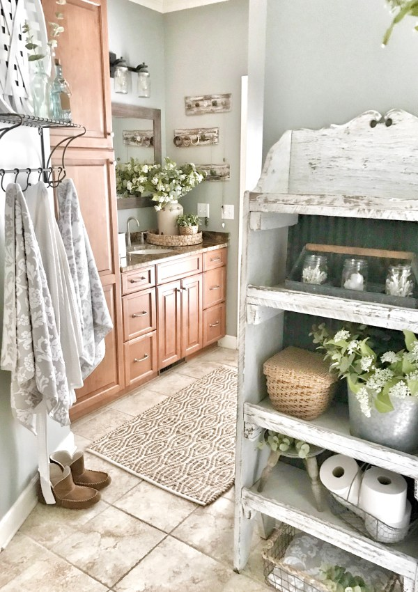 Master Bathroom Makeover Reveal- Farmhouse Style