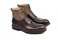 Boots ginkgo bi-matière réalisées en cousu norvégien par Heschung