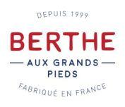 logo de la marque Berthe aux Grands Pieds (depuis 1999, fabriqué en France)