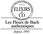 logo de la marque Elixirs & Co (les fleurs de Bach authentiques, depuis 1993)