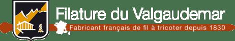 logo de la marque Filature du Valgaudemar (fabricant français de fil à tricoter depuis 1830)