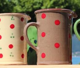 mug à pois rouge de chez ArtGilles