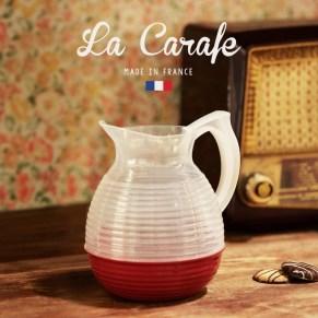 La Carafe Originale, modèle de couleur orange, pur objet déco ou pichet design, née et fabriquée en France (Roche-en-Bresnil, Morvan)