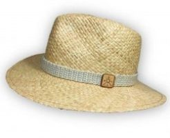 Spirito straw hat GDGM cotton and cashmere ribbon