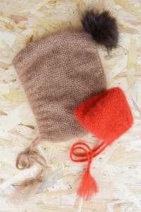 Le kit contient 1 pelote de laine DIVA 80 % mohair de chevreau et 20 % soie, 1 pompon « ma petite mercerie », 1 fiche explicative 2 tailles