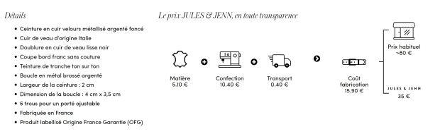 le prix Jules & Jenn en toute transparence