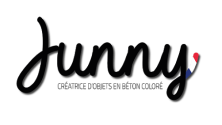 logo de la marque Junny (créatrice d'objets en béton coloré)