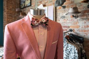 Bleu Bowtique Detroit pink suit and bowtie