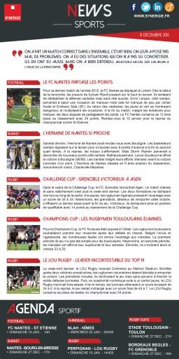 Newsletter sports