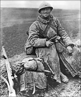 Chasseurs à pied dans la Somme, 1918