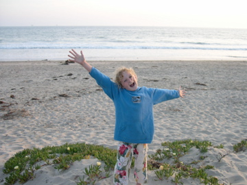 Kat at Carpinteria State Beach