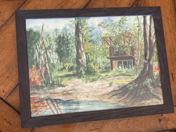 Painting of Robe cabin.