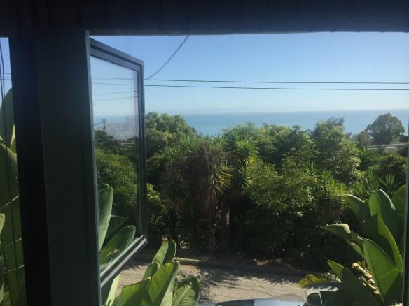 ocean views from living room windows