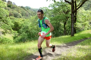 Zach Szablewski at Lake Sonoma 50 mile ultra