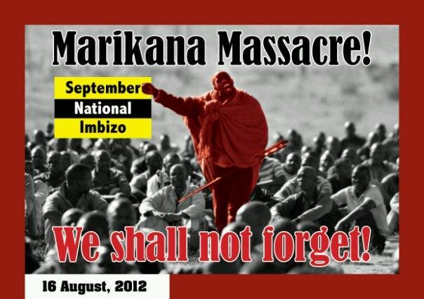 SEPTEMBER NATIONAL IMBIZO RESPONDS TO THE REPORT OF THE PRESIDENTIAL COMMISSION OF INQUIRY REGARDING THE MARIKANA MASSACRE