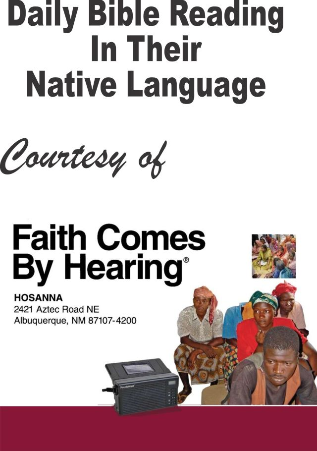 Bible Reading Flyer