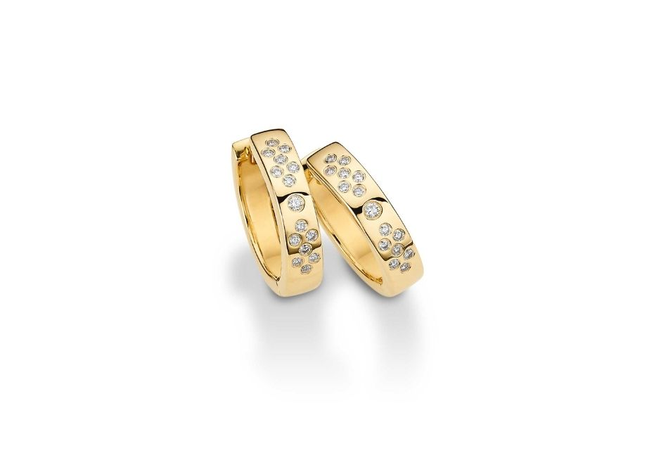 Creolen, Gold 585 (Brillant 0,16 ct), UVP 1.099 Euro.