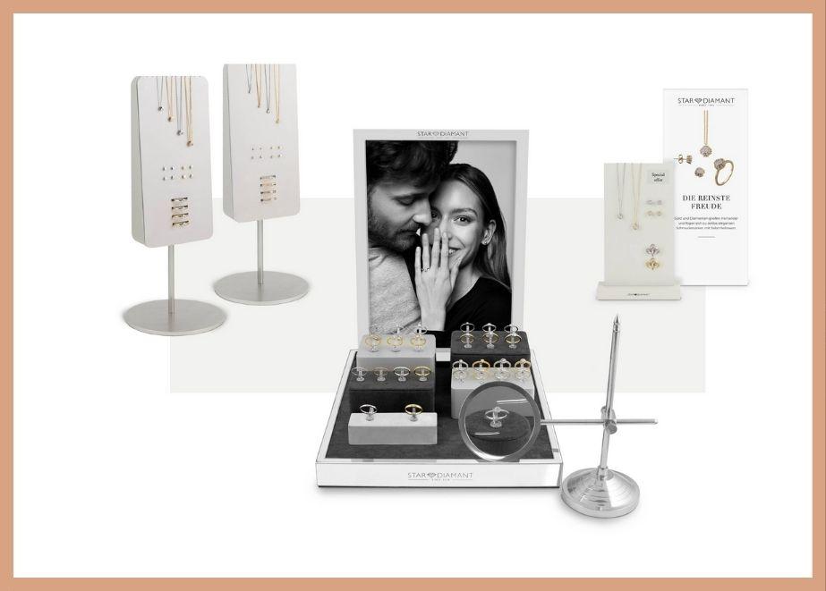 Neu entwickelte Vitrinen und Displays sprechen die Kunden perfekt an.