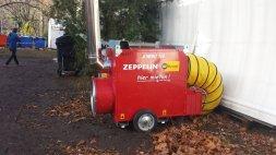 Lufterhitzer für die Zelte im LaGeSo