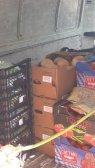 Gemüse im Lieferwagen