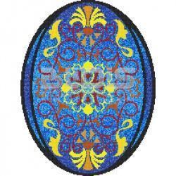 glass tile mosaic medallions