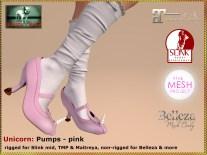 Bliensen - Unicorn - pumps - pink Kopie