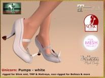Bliensen - Unicorn - pumps - white Kopie