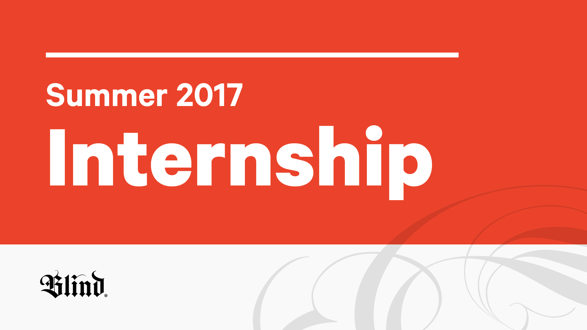 Summer 2017 Design Internships
